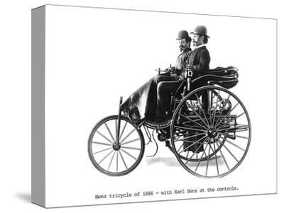 Three-wheeled Benz motor car, 1886. Artist: Unknown-Unknown-Stretched Canvas Print