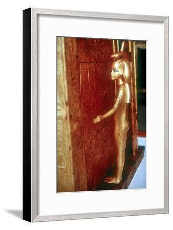 Selket protective goddess guarding the Canopic Shrine, Tomb of Tutankhamun, Cairo. Artist: Unknown-Unknown-Framed Giclee Print