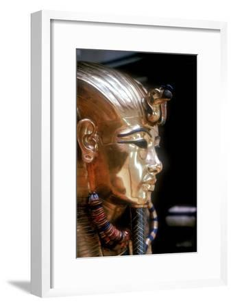 Gold mask of Tutankhamun on the second coffin. Artist: Unknown-Unknown-Framed Giclee Print