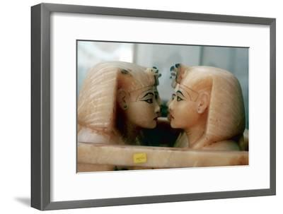Canopic Jars from the Tomb of Tutankhamun. Artist: Unknown-Unknown-Framed Giclee Print