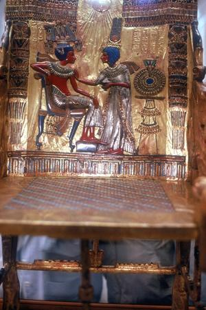 Detail of Chair from tomb of Tutankhamun. Artist: Unknown-Unknown-Framed Giclee Print