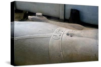 Detail from colossal statue of Rameses II, Memphis, Egypt, c13th century BC. Artist: Unknown-Unknown-Stretched Canvas Print
