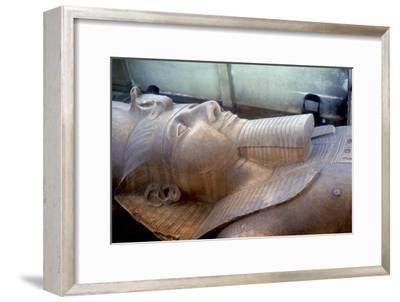 Head of colossal statue of Rameses II, Memphis, Egypt, c13th century BC. Artist: Unknown-Unknown-Framed Giclee Print