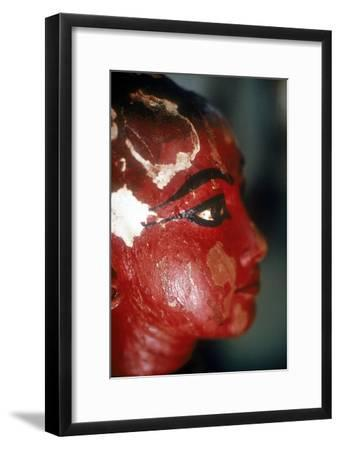 Closeup of head of Tutankhamun as a child emerging from a lotus flower. Artist: Unknown-Unknown-Framed Giclee Print