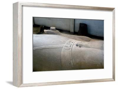 Detail from colossal statue of Rameses II, Memphis, Egypt, c13th century BC. Artist: Unknown-Unknown-Framed Giclee Print