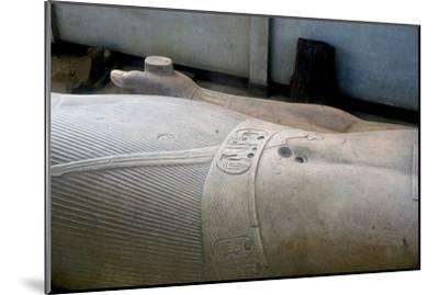 Detail from colossal statue of Rameses II, Memphis, Egypt, c13th century BC. Artist: Unknown-Unknown-Mounted Giclee Print