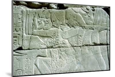 Relief depicting captives of war, Temple of Amun, Karnak, Egypt. Artist: Unknown-Unknown-Mounted Giclee Print