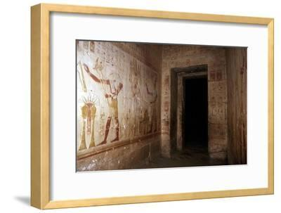 Wallpaintings, Temple of Sethos I, Abydos, Egypt, 19th Dynasty, c1280 BC. Artist: Unknown-Unknown-Framed Giclee Print