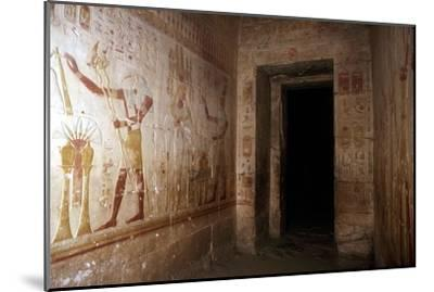 Wallpaintings, Temple of Sethos I, Abydos, Egypt, 19th Dynasty, c1280 BC. Artist: Unknown-Unknown-Mounted Giclee Print