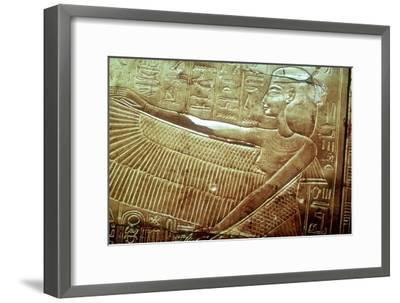 Protective goddess on the golden canopic shrine, Tomb of Tutankhamun, Cairo. Artist: Unknown-Unknown-Framed Giclee Print