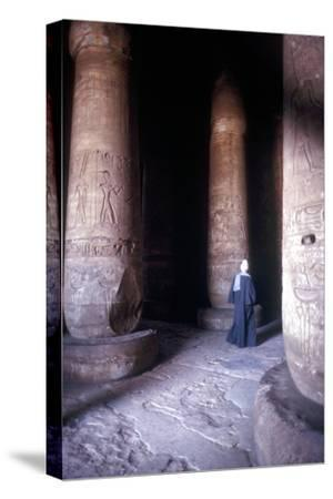 Hypostyle Hall, Temple of Sethos I, Abydos, Egypt, 19th Dynasty, c1280 BC. Artist: Unknown-Unknown-Stretched Canvas Print