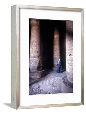 Hypostyle Hall, Temple of Sethos I, Abydos, Egypt, 19th Dynasty, c1280 BC. Artist: Unknown-Unknown-Framed Giclee Print