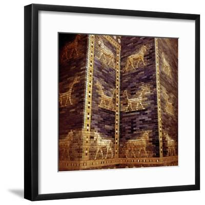 Detail of the Ishtar Gate, Babylon, c604-c562 BC. Artist: Unknown-Unknown-Framed Giclee Print
