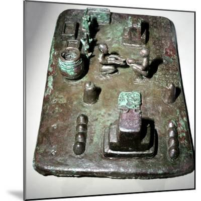 Bronze model of a cult place for ceremony of the rising of the sun, c1150 BC. Artist: Unknown-Unknown-Mounted Giclee Print