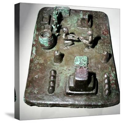 Bronze model of a cult place for ceremony of the rising of the sun, c1150 BC. Artist: Unknown-Unknown-Stretched Canvas Print