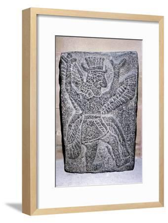 Neo-Hittite stone relief of a winged figure, c9th century BC. Artist: Unknown-Unknown-Framed Giclee Print