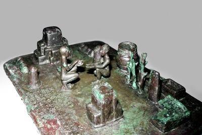Bronze model of a cult place for ceremony of the rising of the sun, c1150 BC. Artist: Unknown-Unknown-Framed Giclee Print