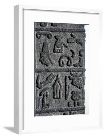 Hittite Hieroglyphs, c9th century BC. Artist: Unknown-Unknown-Framed Giclee Print