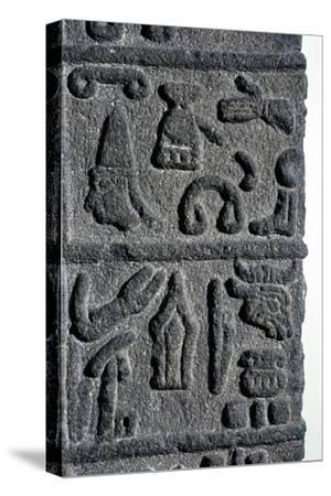 Hittite Hieroglyphs, c9th century BC. Artist: Unknown-Unknown-Stretched Canvas Print