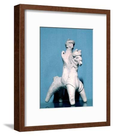 Neo-Hittite terracotta figurine of a horseman, Carcemish, 8th century BC. Artist: Unknown-Unknown-Framed Giclee Print