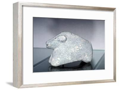 Stonecarving, Susa, Proto-Elamite and Uruk period, 3500-2850 BC. Artist: Unknown-Unknown-Framed Giclee Print