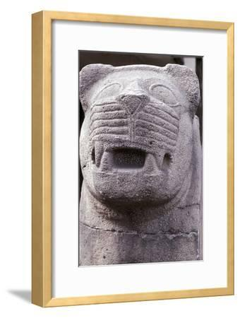 Stone carving of a lion, Hittite. Artist: Unknown-Unknown-Framed Giclee Print