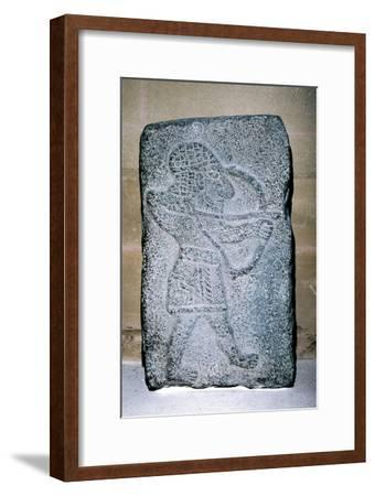 Neo-Hittite stone relief of an archer, c9th century BC. Artist: Unknown-Unknown-Framed Giclee Print