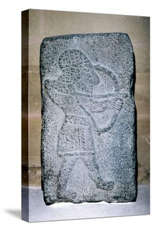 Neo-Hittite stone relief of an archer, c9th century BC. Artist: Unknown-Unknown-Stretched Canvas Print