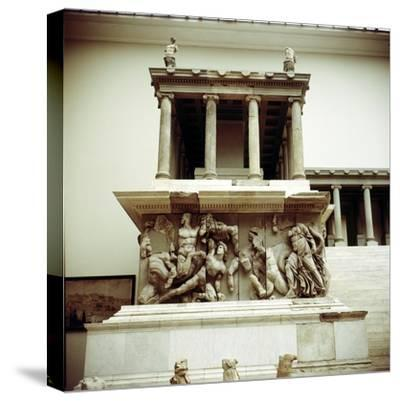 Detail of the Altar of Zeus from Pergamon, c180-c159 BC. Artist: Unknown-Unknown-Stretched Canvas Print