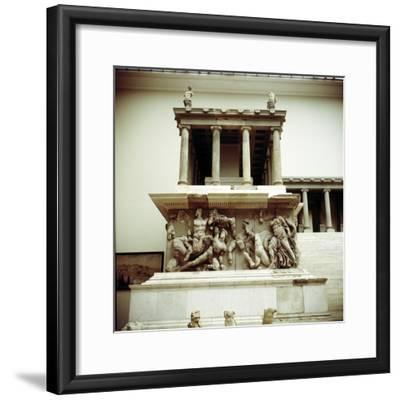 Detail of the Altar of Zeus from Pergamon, c180-c159 BC. Artist: Unknown-Unknown-Framed Giclee Print