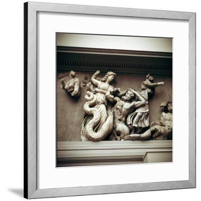 Detail of the North frieze of the Altar of Zeus from Pergamon, c180-c159 BC. Artist: Unknown-Unknown-Framed Giclee Print