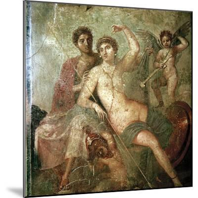 Roman wallpainting of Cupid, Venus and Mars, Pompeii, Italy. Artist: Unknown-Unknown-Mounted Giclee Print