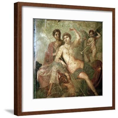 Roman wallpainting of Cupid, Venus and Mars, Pompeii, Italy. Artist: Unknown-Unknown-Framed Giclee Print