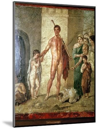 Roman wallpainting of Theseus after killing the Minotaur, Pompeii. Artist: Unknown-Unknown-Mounted Giclee Print