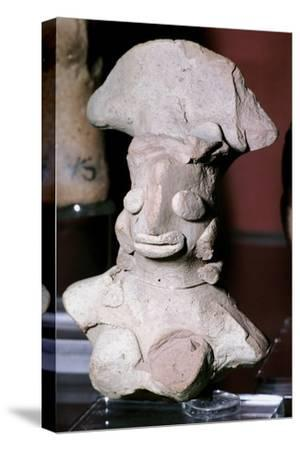 Terracotta female figure, Indus Valley, Mohenjo-Daro, 2500-2000 BC. Artist: Unknown-Unknown-Stretched Canvas Print