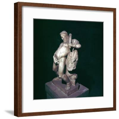 The drunken Hercules, House of the Stags, Herculaneum, Italy. Artist: Unknown-Unknown-Framed Giclee Print