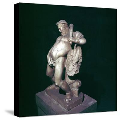 The drunken Hercules, House of the Stags, Herculaneum, Italy. Artist: Unknown-Unknown-Stretched Canvas Print
