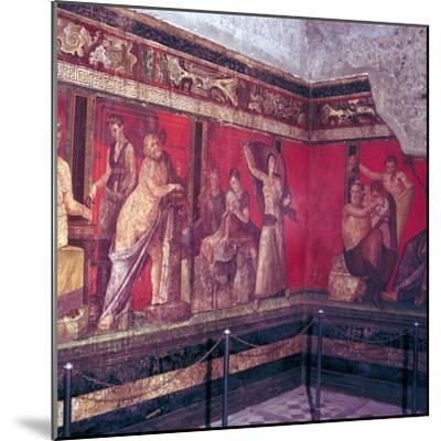 Roman wallpainting from Villa of the Mysteries, Pompeii, Italy, 1st century. Artist: Unknown-Unknown-Mounted Giclee Print