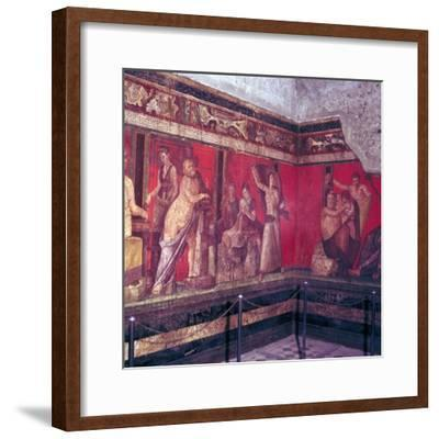 Roman wallpainting from Villa of the Mysteries, Pompeii, Italy, 1st century. Artist: Unknown-Unknown-Framed Giclee Print