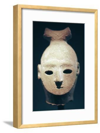 Head of a Haniwa tomb figure, Japanese, Kofun period, 6th century. Artist: Unknown-Unknown-Framed Giclee Print