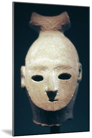 Head of a Haniwa tomb figure, Japanese, Kofun period, 6th century. Artist: Unknown-Unknown-Mounted Giclee Print