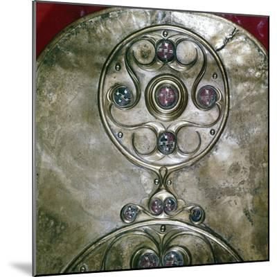 Detail of Celtic decoration, Battersea Shield, Celtic, c2nd - 1st century BC. Artist: Unknown-Unknown-Mounted Giclee Print