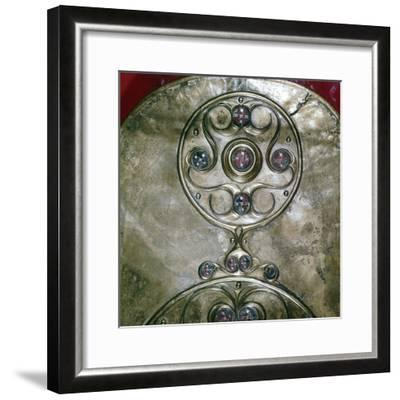 Detail of Celtic decoration, Battersea Shield, Celtic, c2nd - 1st century BC. Artist: Unknown-Unknown-Framed Giclee Print