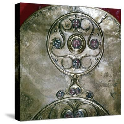 Detail of Celtic decoration, Battersea Shield, Celtic, c2nd - 1st century BC. Artist: Unknown-Unknown-Stretched Canvas Print