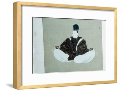 A seated dignitary, Japanese painting. Artist: Unknown-Unknown-Framed Giclee Print