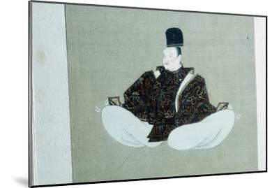 A seated dignitary, Japanese painting. Artist: Unknown-Unknown-Mounted Giclee Print