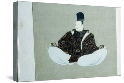 A seated dignitary, Japanese painting. Artist: Unknown-Unknown-Stretched Canvas Print