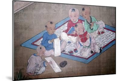 Children at play, Japanese painting, 18th century. Artist: Unknown-Unknown-Mounted Giclee Print