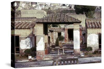 The House of the Stags, Herculaneum, Italy. Artist: Unknown-Unknown-Stretched Canvas Print