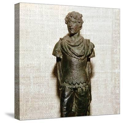 Gaullish prisoner, Roman bronze statuette, c1st century. Artist: Unknown-Unknown-Stretched Canvas Print